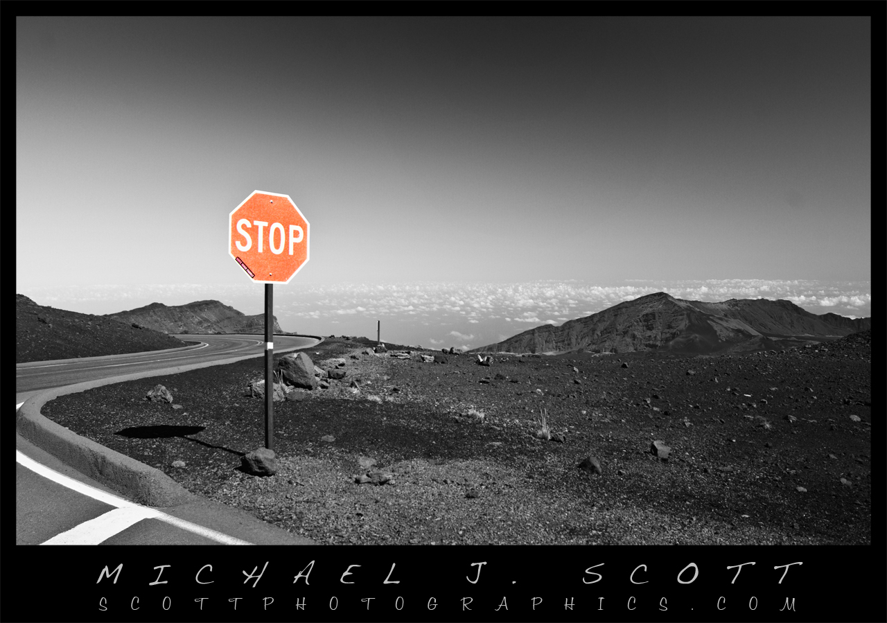 stop-sign-haleakala-maui-hawaii
